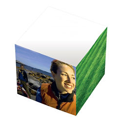 Customized BIC® 3'' x 3'' x 3'' Adhesive Cube