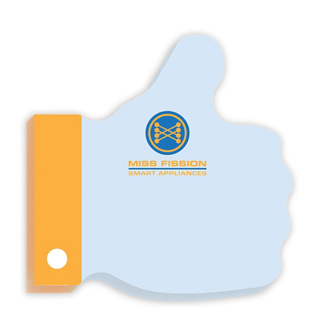 Customized 3x3 Adhesive Die-Cut Notepads, Thumbs Up