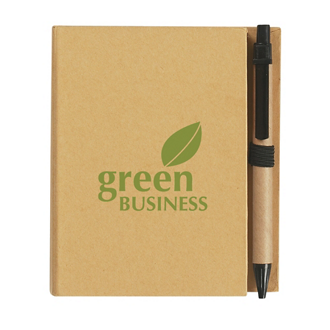 Customized Eco-Inspired Notebook with Pen