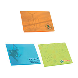Customized BIC® 4x3 Adhesive Colored Paper Notepad 50 Sheet