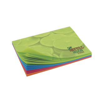 Customized BIC® 4x3 Adhesive Colored Paper Notepad 25 Sheet