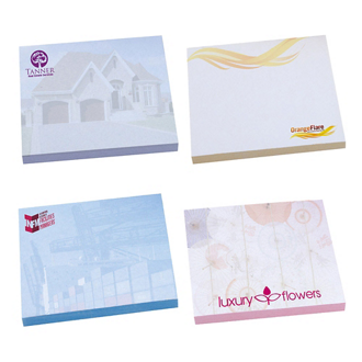 Customized BIC® 3x3 Adhesive Spring Notepad 50 Sheet