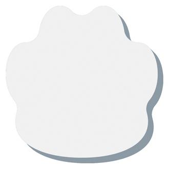 Customized BIC® 3x3 Die Cut Sticky Notepad-25 Sheet-Paw