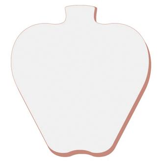 Customized BIC® 3x3 Die Cut Sticky Notepad-50 Sheet-Apple