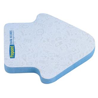 Customized BIC® 3x3 Die Cut Sticky Notepad-50 Sheet-Arrow