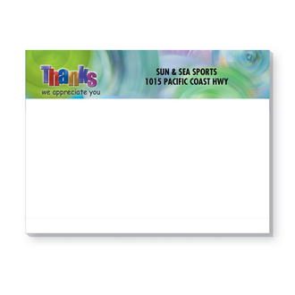 Customized Bic 4x3 Sticky Note Pads with Designs