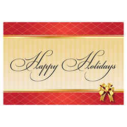 Customized Greeting Card - Happy Holidays