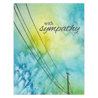 Customized Watercolor Bird Sympathy Card - Full Color