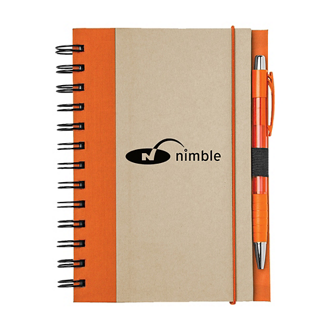 Customized Recycled Color Spine Spiral Notebook Set