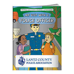 Customized Coloring Book My Visit with a Police Officer