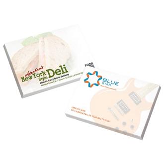 Customized Bic® 50 Sheet Sticky Note Pad - 4 x 3