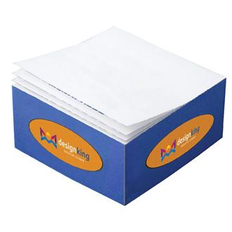 Customized 3 3/8''x3 3/8''x1 3/4'' Half Cube Post-it® Notes