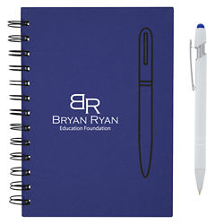 Customized Magnetism Spiral Notebook & Stylus Pen