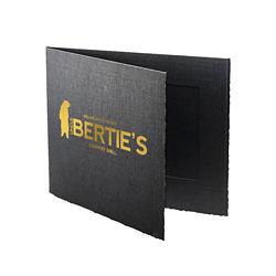 Customized 4''x6'' Black Double-Sided Portrait Folder