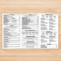 Customized 8.5''x11'' One-Sided Menu