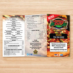 Customized 8.5''x11'' Full Colour One-Sided Menu