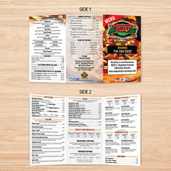 Customized 8.5''x11'' Full Colour Two-Sided Menu