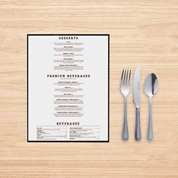 Customized 8.5''x14'' One-Sided Menu