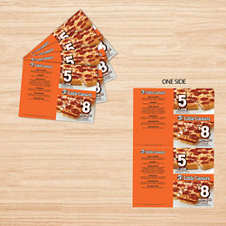 Customized 8.5'' X 14'' Full Colour One-Sided Menu