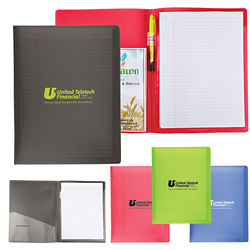Customized Letter Size Folder w/Writing Pad