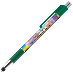Customized Colourama Deluxe Pen with Stylus Tip & Antimicrobial Additive
