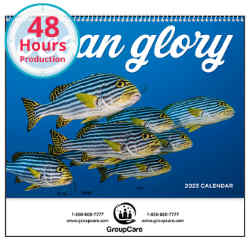 Customized Good Value™ Ocean Glory Calendar (Spiral)