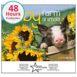 Customized Good Value™ Baby Farm Animals Calendar (Spiral)