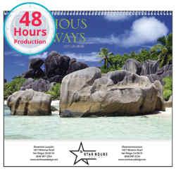 Customized Good Value™ Glorious Getaways Calendar (Spiral)