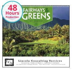 Customized Good Value™ Fairways & Greens Calendar (Spiral)