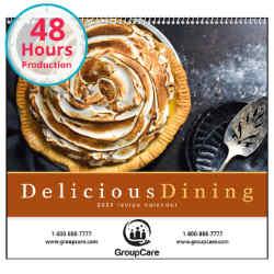 Customized Good Value™ Delicious Dining Calendar (Spiral)