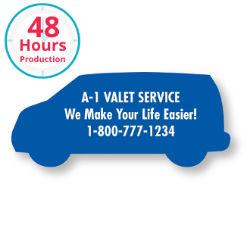 Customized Bic® Stock Shape Magnet-Van- 20 mil