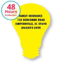 Customized Bic® Stock Shape Magnet-Light Bulb- 20 mil