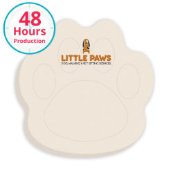 Customized 3x3 Adhesive Die-Cut Notepads, Paw