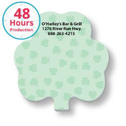 Customized 3x3 Adhesive Die-Cut Notepads, Shamrock