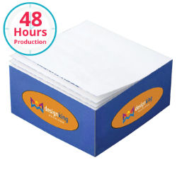 Customized 3 3/8''x3 3/8''x1 3/4'' Half Cube Post-it® Notes