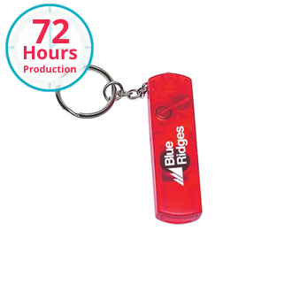 Customized Whistle, Light and Compass Keychain