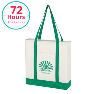 Customized Non-Woven Tote Bag with Trim Colors
