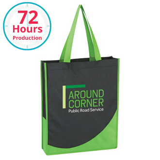 Customized Non-Woven Tote with Accent Trim
