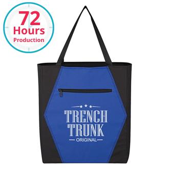 Customized Two-Tone Hexagon Tote Bag