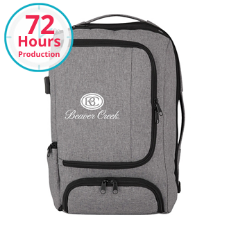Customized Heathered RFID Computer Backpack and Briefcase