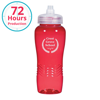 Customized Wave Bottle with Sure Flow Lid - 26 oz