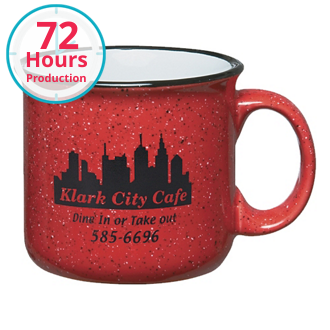 Customized Campfire Mug Red - 15 oz