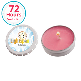 Customized Snap Top Tin Candle