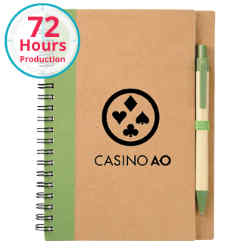 Customized Eco Spiral Notebook and Pen with Your Logo