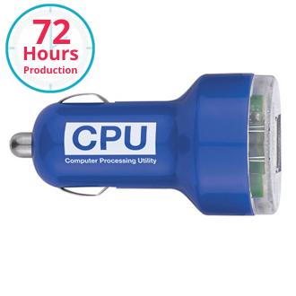 Customized Dual USB Portable Car Charger