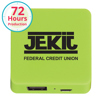 Customized UL Listed Power Bank With Rubber Finish