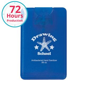 Customized .66 oz Card Shape Hand Sanitizer