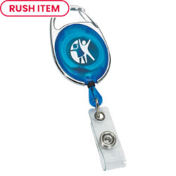 Customized Translucent Retractable Badge Reel with Sport Clip