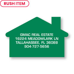 Customized Bic® Stock Shape Magnet-House- 20 mil
