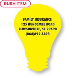 Customized Bic® Stock Shape Magnet-Light Bulb- 20 mil